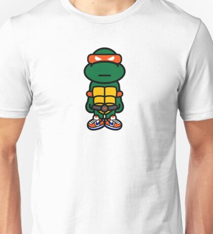 Orange Renaissance Turtle Unisex T-Shirt