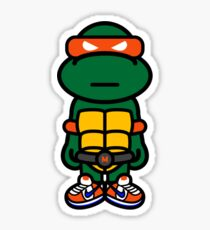 Orange Renaissance Turtle Sticker