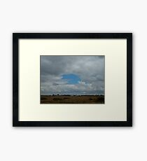 Pac-Man In The Sky Framed Print