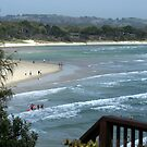 Byron Bay from the viewing platform southern end by BronReid