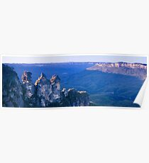 Blue Mountain Panoramic Poster