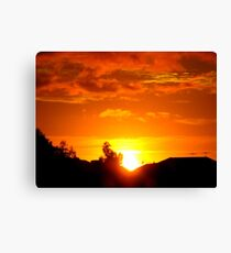 Paint The Sky Gold Canvas Print