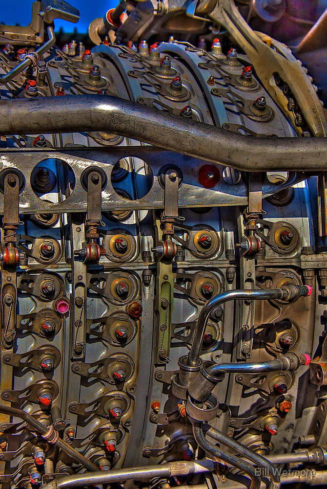 Jet Engine Detail by Bill Wetmore