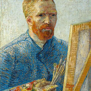 Self-portrait as an artist, Vincent Van Gogh by fourretout