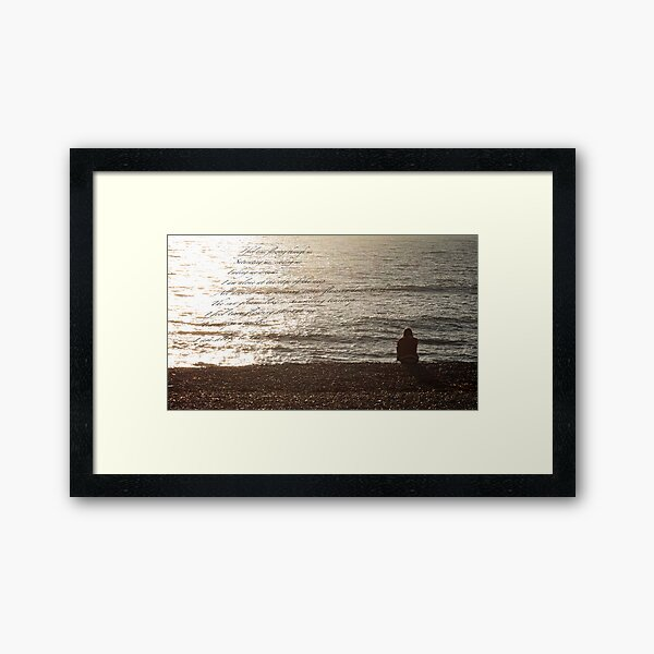 I feel time flowing through me ... Framed Art Print
