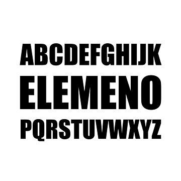 Alphabet Elemeno Teacher Student Funny by TheBestStore