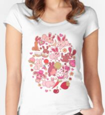 Adorable Bunnies Women's Fitted Scoop T-Shirt