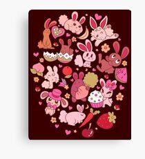 Adorable Bunnies Canvas Print