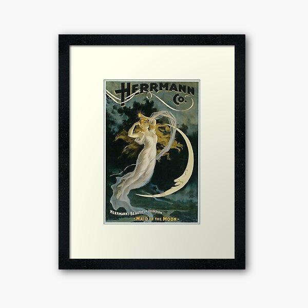 Vintage Herrmann Co. Magic Poster Framed Art Print