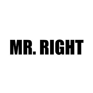 Mr Right Funny Couple Set by TheBestStore