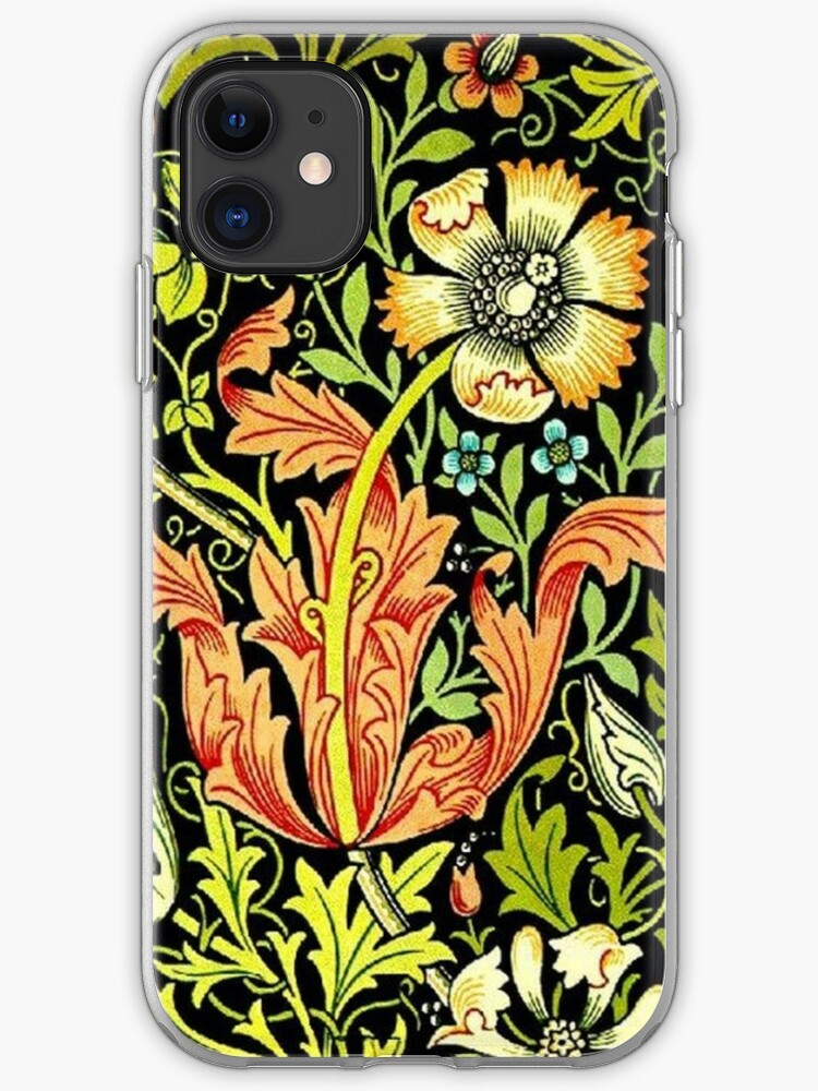 William Morris Vintage Floral Wallpaper Iphone Case Cover By Rbent Redbubble