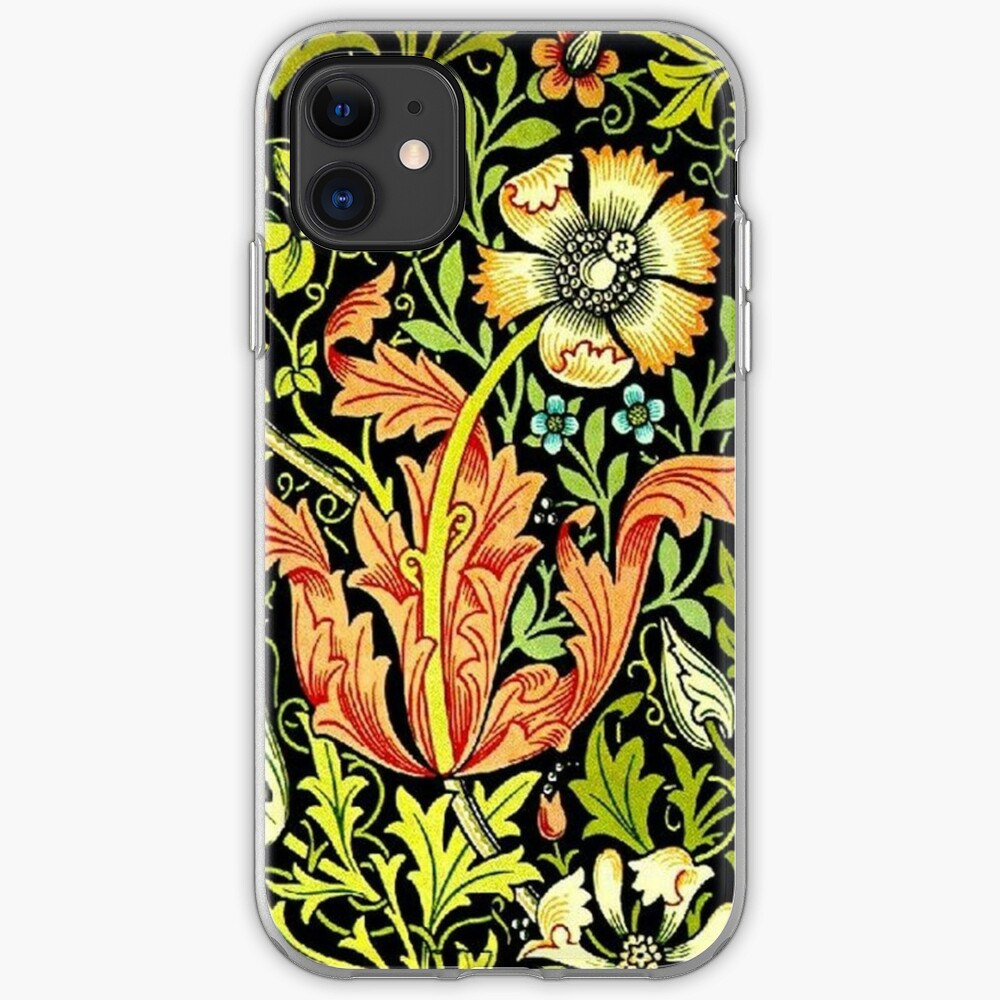 William Morris Vintage Floral Wallpaper Iphone Case Cover By
