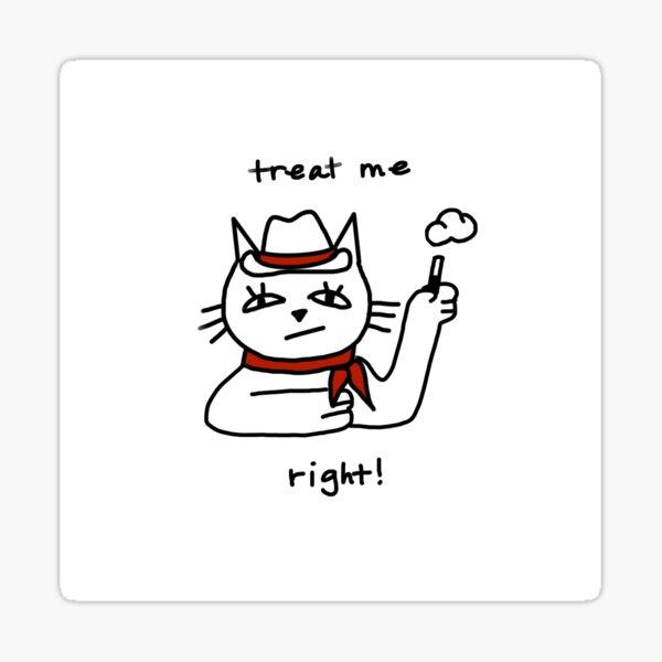 cowboy cat Sticker