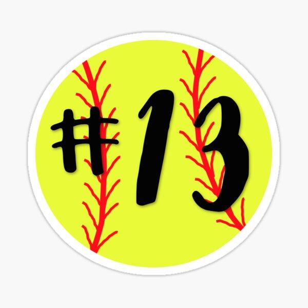 Softbol # 13 Pegatina