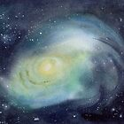Galaxy with Nebulae by Sandra Connelly