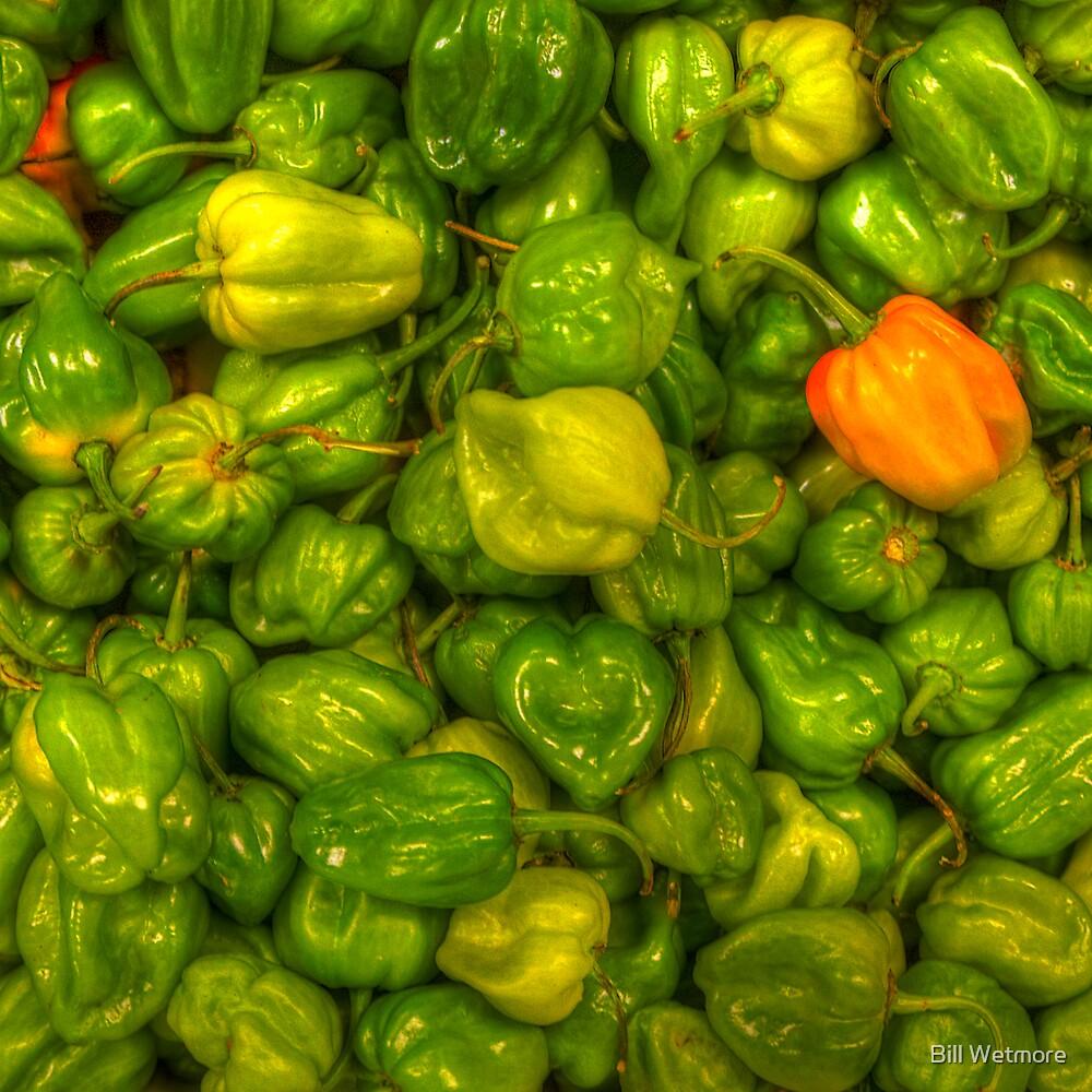 Green Scotch Bonnet Peppers by Bill Wetmore