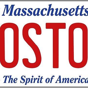 BOSTON - Massachusetts License Plate by 1MNL1