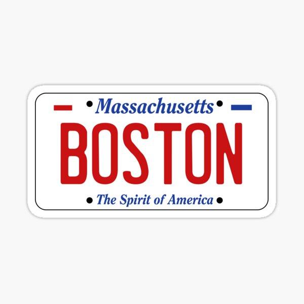 BOSTON - Massachusetts License Plate Sticker