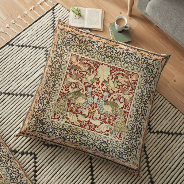 William Morris Vintage Floral Wallpaper Poster Floor Pillow