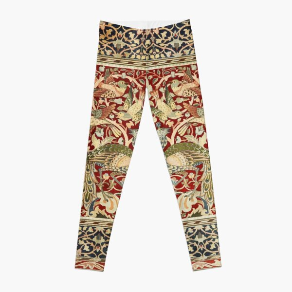 William Morris Vintage Floral Wallpaper Poster Leggings