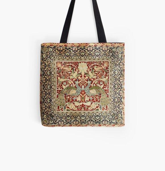 William Morris Vintage Floral Wallpaper Poster All Over Print Tote Bag