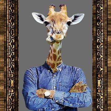 Mr Giraffe Self Portrait by buckwild