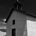 ADOBE CHURCH IN THE MANZANO MOUNTAINS by Thomas Barker-Detwiler