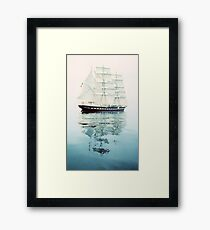 The Belem at sea Framed Print