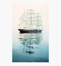 The Belem at sea Photographic Print