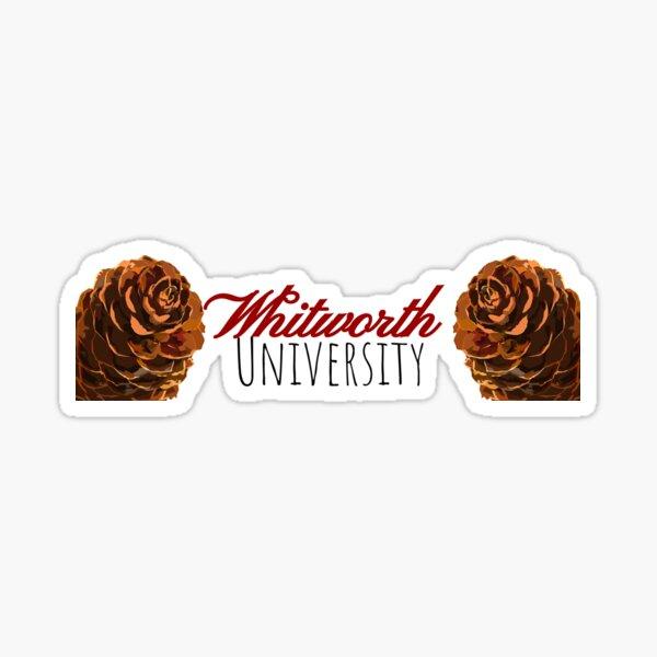 Whitworth University pinecones Sticker