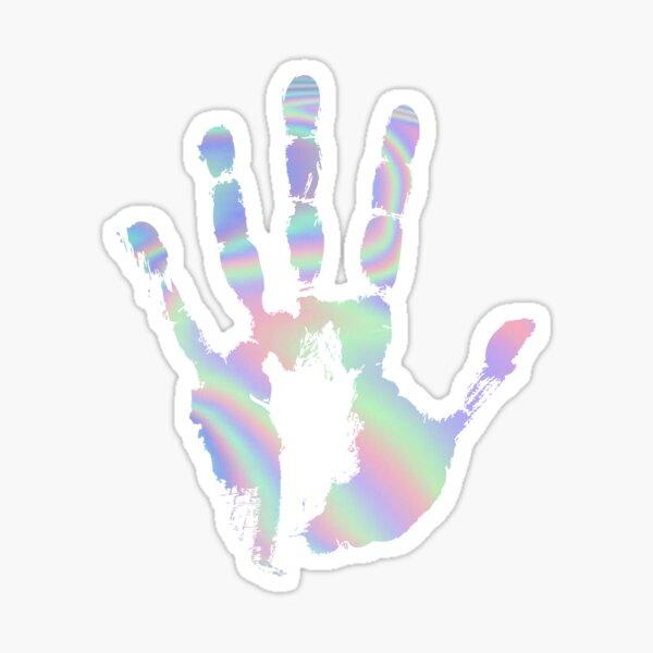 Roswell Hand Print Sticker