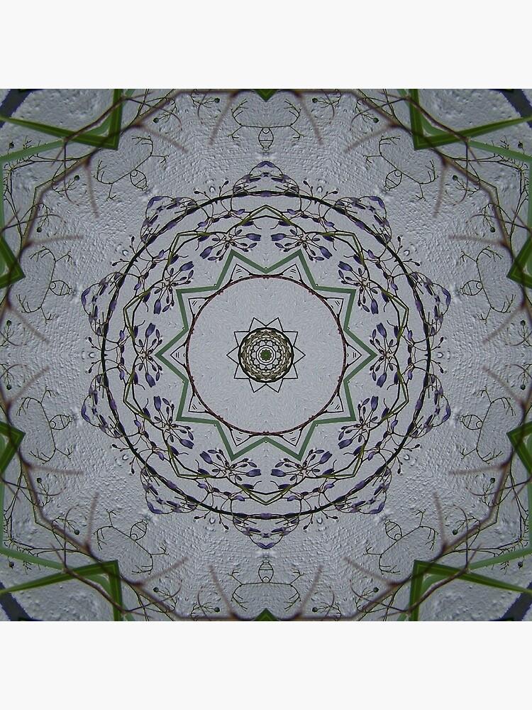 Light grey mandala by MarilynBaldey7