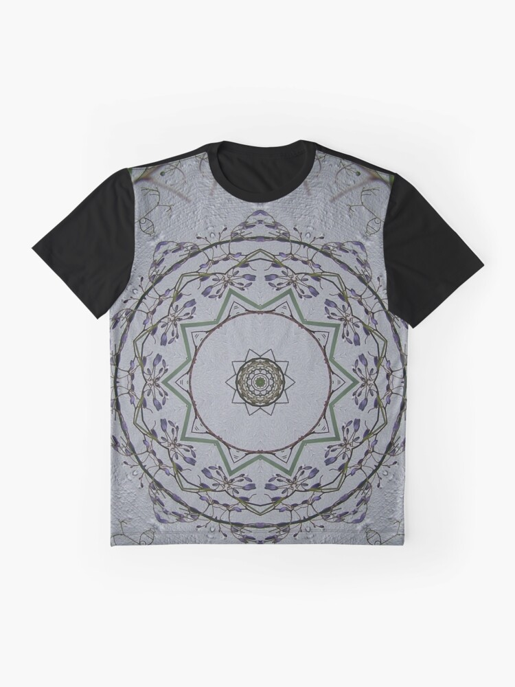 Alternate view of Light grey mandala Graphic T-Shirt
