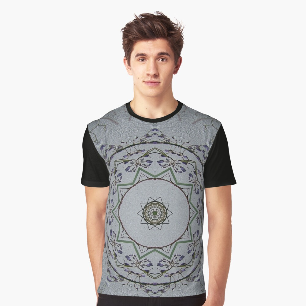 Light grey mandala Graphic T-Shirt