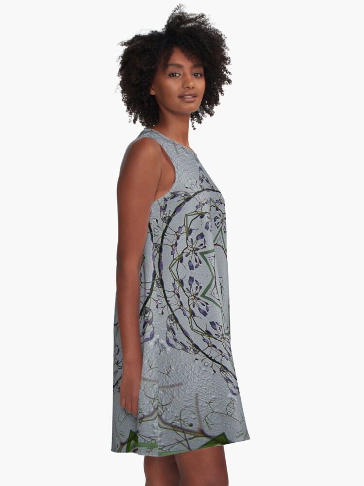 Alternate view of Light grey mandala A-Line Dress
