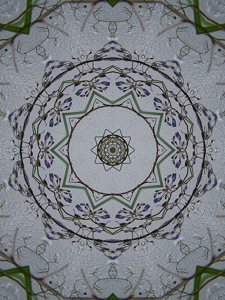 Light grey mandala by MarilynBaldey7