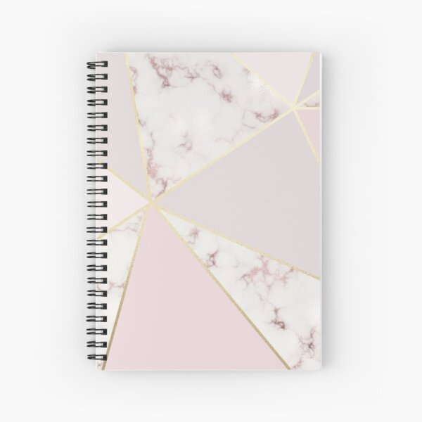 Beautiful Rose Gold Marble Spiral Notebook