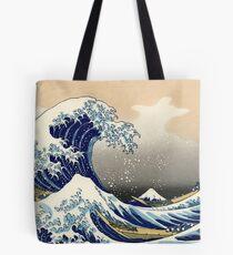 Bolsa de tela La gran ola frente a Kanagawa