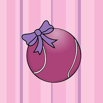 Tennis Tennis Player Tennis Ball Bow Queen Princess Gift by Rueb