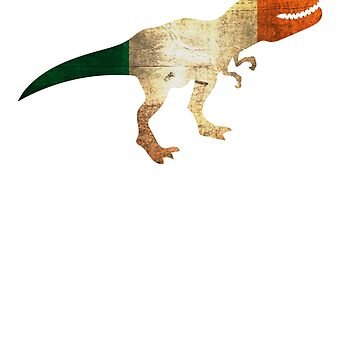 T Rex St Patrick day Flag by EfrainGaleano