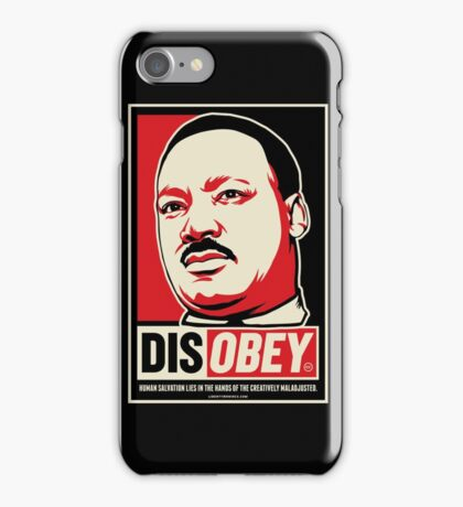 Martin Luther King Civil Disobedience Shirts iPhone Case/Skin