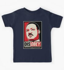 Martin Luther King Civil Disobedience Shirts Kids Tee