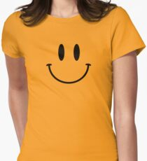 Retro Acid Smiley T Shirt Womens Fitted T-Shirt
