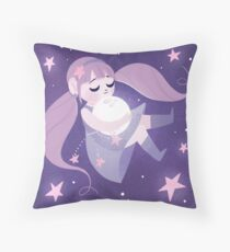 Moon girl Throw Pillow