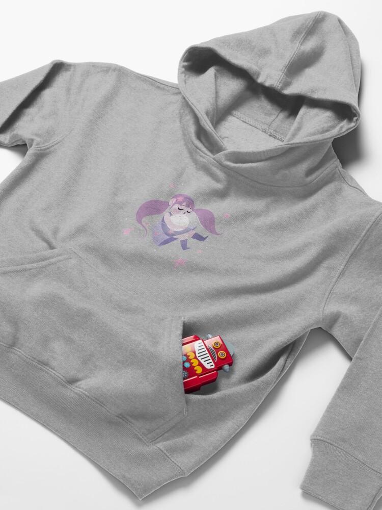 Alternate view of Moon girl Kids Pullover Hoodie