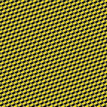 Sharkstooth Sharks Pattern Repeat in Black and Yellow by podartist