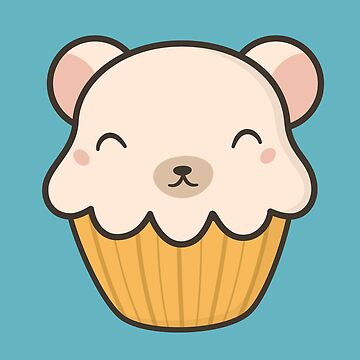 Kawaii Cute Polar Bear Cupcake  by happinessinatee