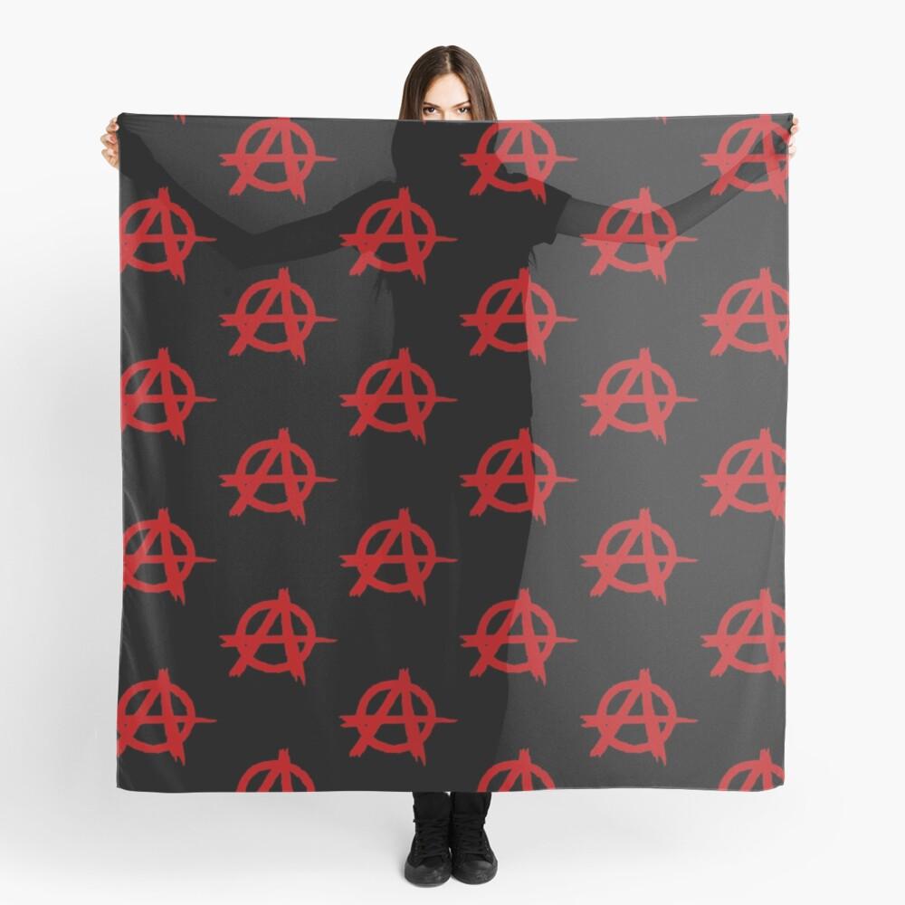 Anarchy Symbol T Shirt Scarf