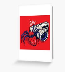 Spider Shot Greeting Card