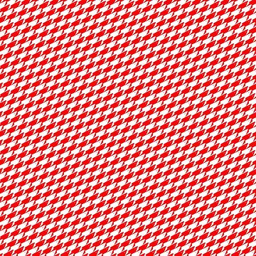 Sharkstooth Sharks Pattern Repeat in White and Red by podartist